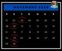 Calendário de sessões do mês de novembro