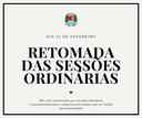Sessões ordinárias voltam no dia 17 de fevereiro