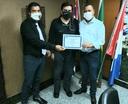 Moção é entregue a diretor da Defesa Civil